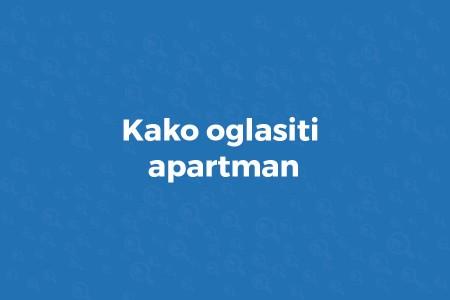 kako oglasiti apartman